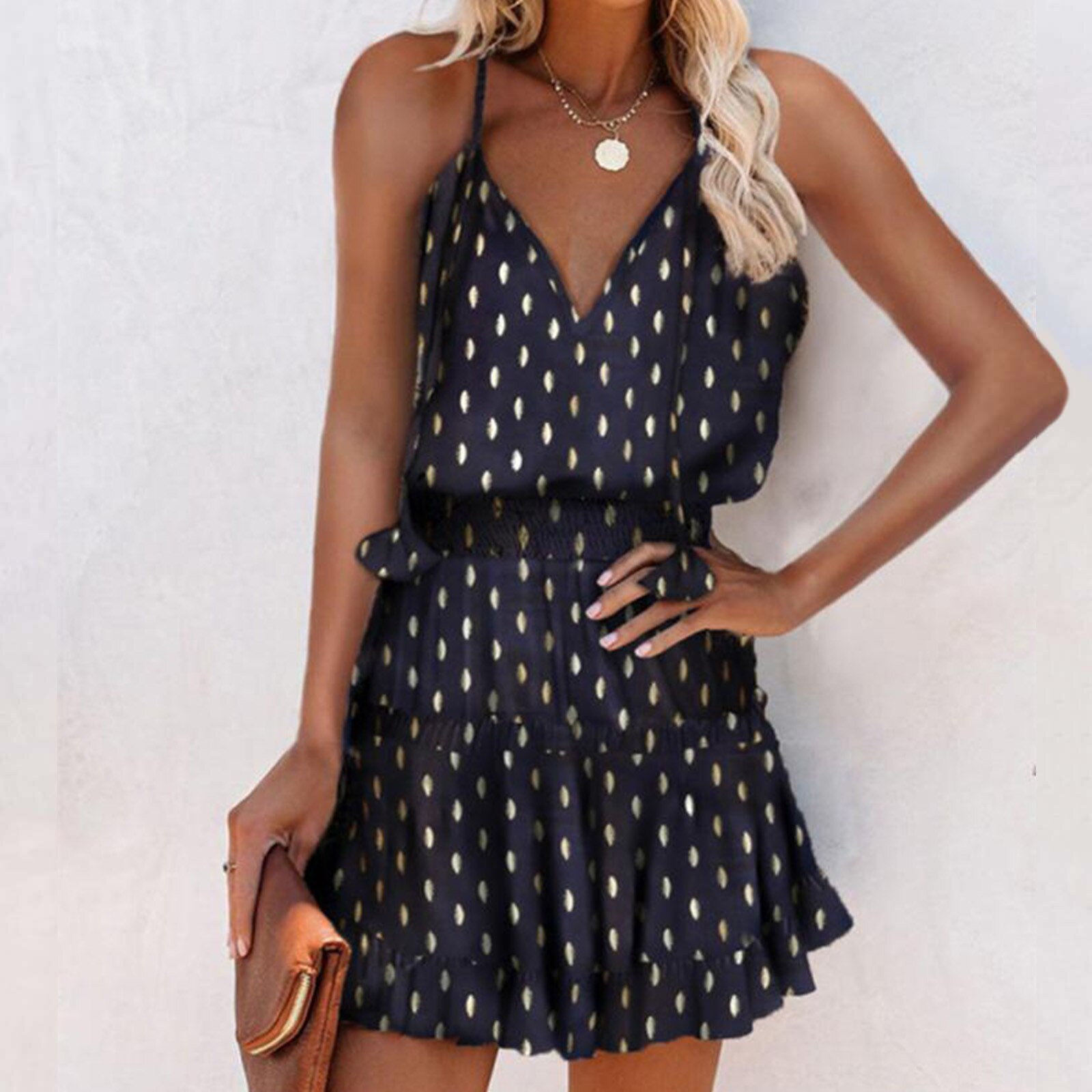 Sommer Y2k Vintage Elegante Frauen Kleid V Ausschnitt Gedruckt Armelloses Ruschen Strumpf Plus Grosse Dame Kleider 2021 Vestidos Sissy Schule De